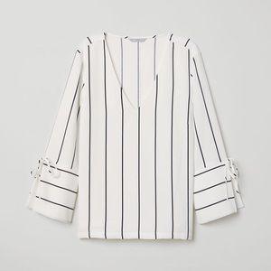 H&M V-Neck Striped Blouse